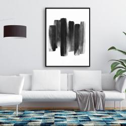 Framed 36 x 48 - Black shapes