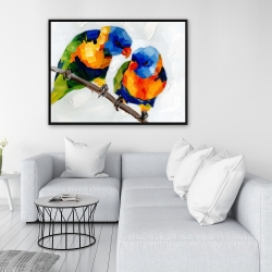 Framed 36 x 48 - Couple of parrots