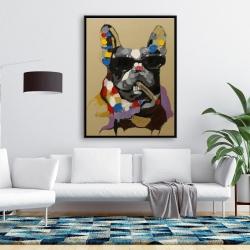 Framed 36 x 48 - Abstract smoking dog