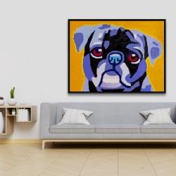 Framed 36 x 48 - Flash the pug