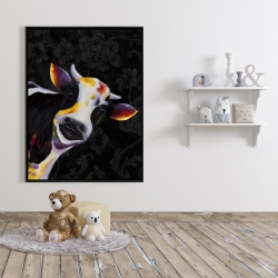 Framed 36 x 48 - Funny cow