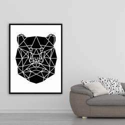 Framed 36 x 48 - Geometric bear head