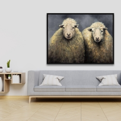 Framed 36 x 48 - Wool sheeps