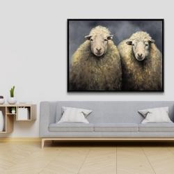 Framed 36 x 48 - Wool sheeps