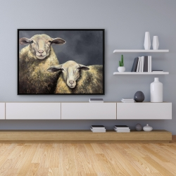 Framed 36 x 48 - Two sheeps