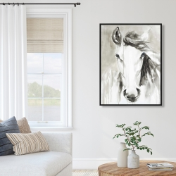 Framed 36 x 48 - Beautiful abstract horse