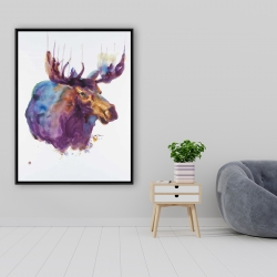 Framed 36 x 48 - Abstract moose