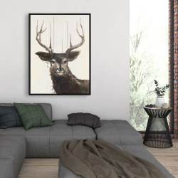 Framed 36 x 48 - Abstract deer