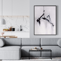 Framed 36 x 48 - Dancer on aerial contortion
