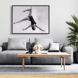 Framed 36 x 48 - Dancer on aerial silks