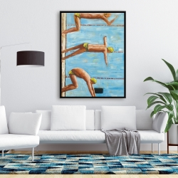 Framed 36 x 48 - Swimmers