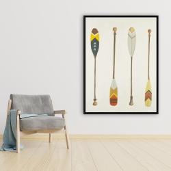 Framed 36 x 48 - Canoe paddles