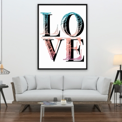 Encadré 36 x 48 - Amour coloré