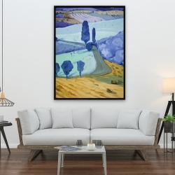 Framed 36 x 48 - Tuscany field