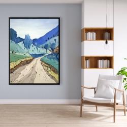 Framed 36 x 48 - Tuscany trail