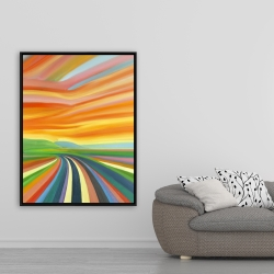 Framed 36 x 48 - Colorful road