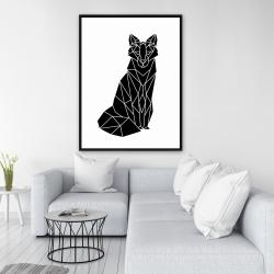 Framed 36 x 48 - Geometric fox