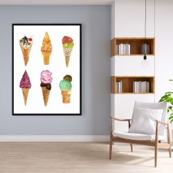 Framed 36 x 48 - Ice cream cones