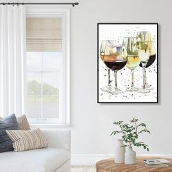 Framed 36 x 48 - Beautiful wine glasses