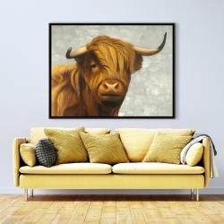 Framed 36 x 48 - Highland cattle