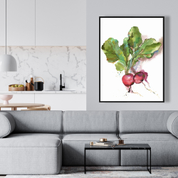 Framed 36 x 48 - Watercolor radish