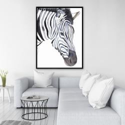 Framed 36 x 48 - Zebra