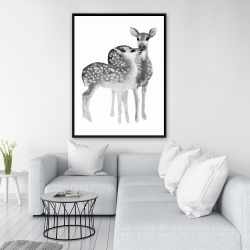 Framed 36 x 48 - Fawns love
