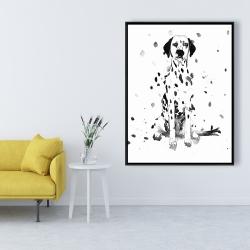 Framed 36 x 48 - Dalmatian dog