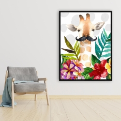 Framed 36 x 48 - Exotic giraffe