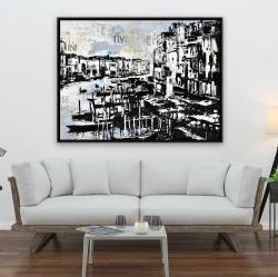 Framed 36 x 48 - Abstract venise port