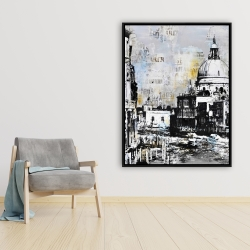 Framed 36 x 48 - Abstract city with typography