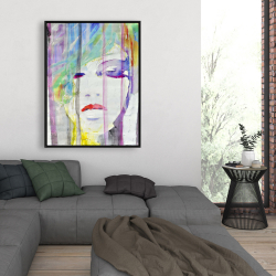 Framed 36 x 48 - Abstract colorful portrait