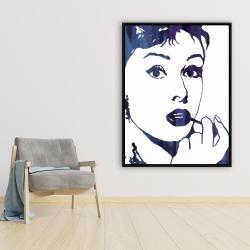 Framed 36 x 48 - Audrey hepburn: cigarillo