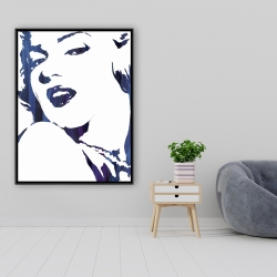 Framed 36 x 48 - Marilyn monroe in blue