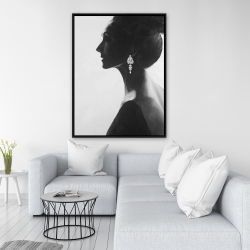 Framed 36 x 48 - Chic woman