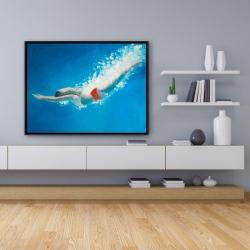 Framed 36 x 48 - Diving jump