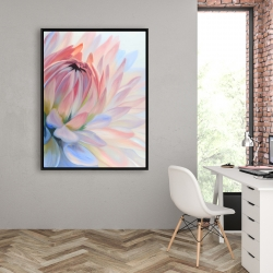 Framed 36 x 48 - Lotus pastel flower