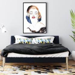 Framed 36 x 48 - Vintage chic marilyne monroe