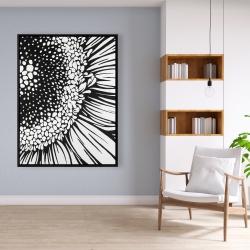 Framed 36 x 48 - Gerbera flower
