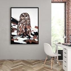 Framed 36 x 48 - Tawny owl