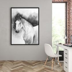 Framed 36 x 48 - Domino horse