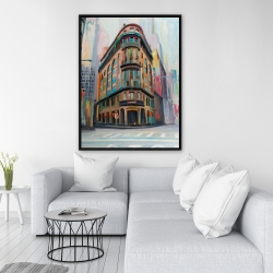 Framed 36 x 48 - Building architecture in new-york