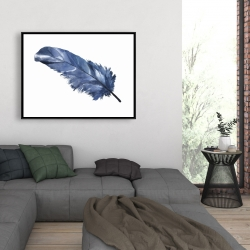 Framed 36 x 48 - Blue feather