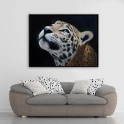Framed 36 x 48 - Realistic leopard face