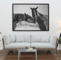 Framed 36 x 48 - Horses lover