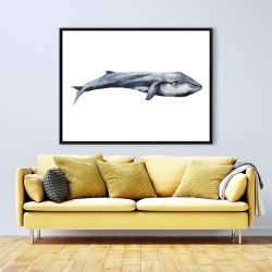 Framed 36 x 48 - Watercolor whale