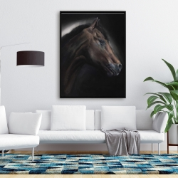 Framed 36 x 48 - Loneliness horse