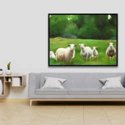 Framed 36 x 48 - Fields of sheep