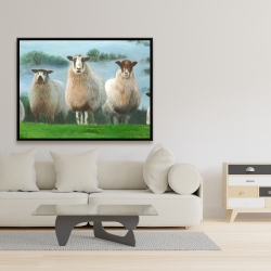 Framed 36 x 48 - Flock of sheep