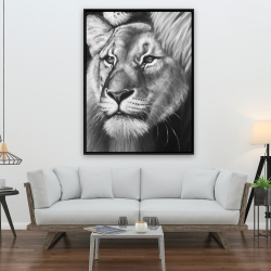 Framed 36 x 48 - Lion and lioness